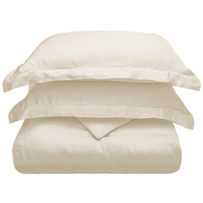 3 Piece Duvet Cover Set Color: Ivory, Size: King/California King