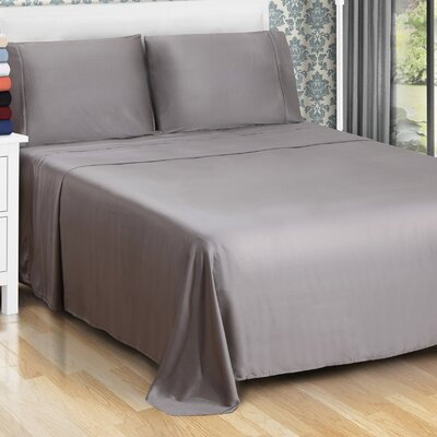 300 Thread Count Modal Solid Sheet Set Size: California King, Color: Gray