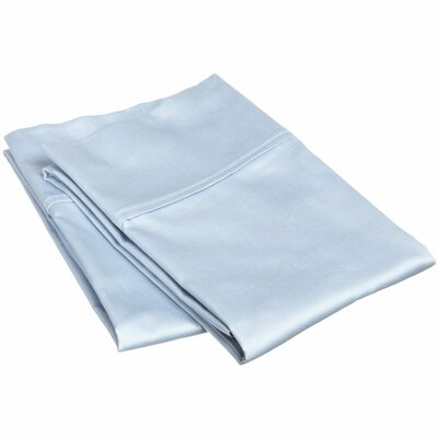 Beasley 800 Thread Count Solid Pillowcase Set Size: King, Color: Light Blue