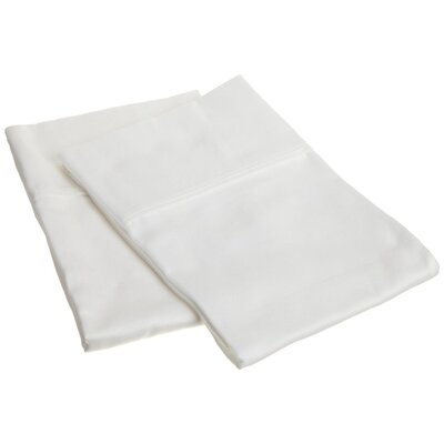 Beasley 800 Thread Count Solid Pillowcase Set Size: King, Color: White