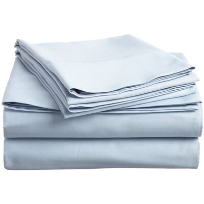 Superior 800 Thread Count 100% Egyptian-Quality Cotton Sheet Set Color: Light Blue, Size: King