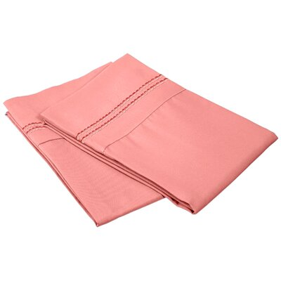 Granger Solid-2 Line Pillowcase Size: Standard, Color: Blossom