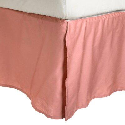 Miloe Solid 2-Line Embroidery Bed Skirt Size: Twin XL