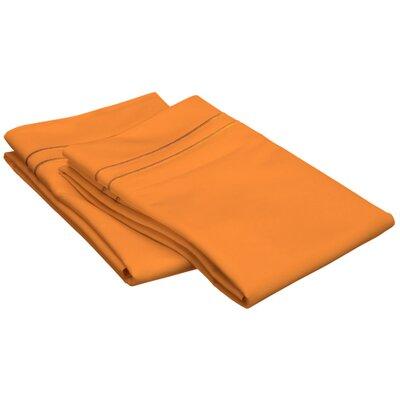 Patric 800 Thread Count Solid Pillowcase Size: Standard, Color: Pumpkin/ Pumpkin