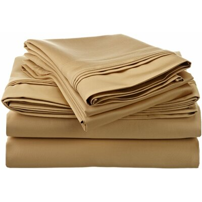Tipton 1500 Thread Count 100% Egyptian-Quality Cotton Sheet Set Color: Gold, Size: Queen