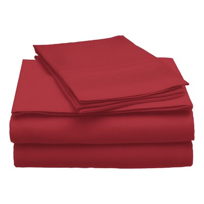 300 Thread Count Modal Solid Sheet Set Color: Burgundy, Size: King