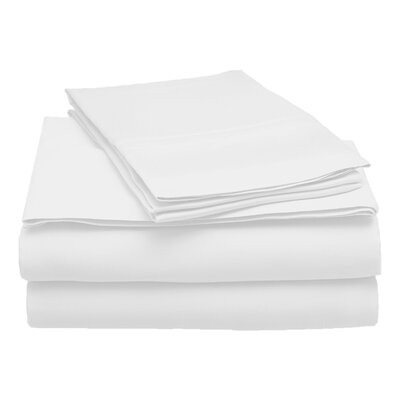 300 Thread Count Modal Solid Sheet Set Size: Queen, Color: White