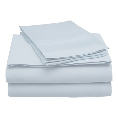 300 Thread Count Modal Solid Sheet Set Size: King, Color: Light Blue
