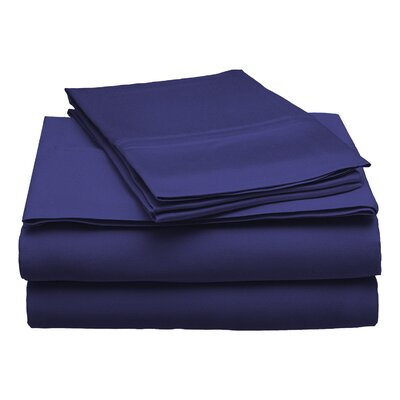 300 Thread Count Modal Solid Sheet Set Size: Full, Color: Navy Blue