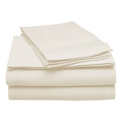 300 Thread Count Modal Solid Sheet Set Color: Ivory, Size: California King