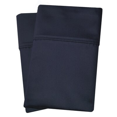 Uinta Cotton Blend 1000 Thread Count Wrinkle Resistant Solid Pillowcase Pair Color: Navy Blue, Size: King