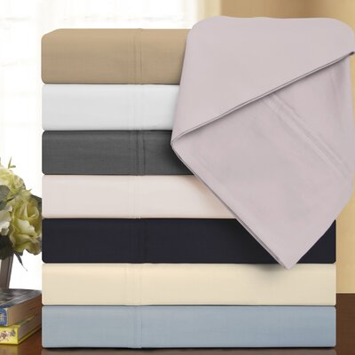 425 Thread Count Cotton Solid Sheet Set Color: White, Size: King