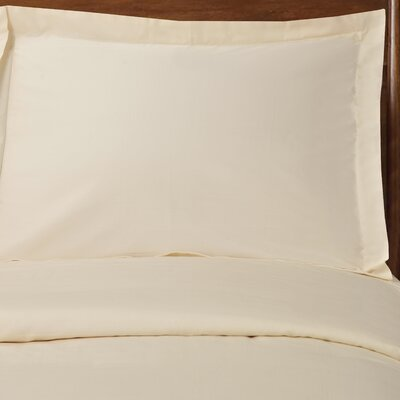 Reversible Duvet Cover Set Color: Ivory, Size: Twin