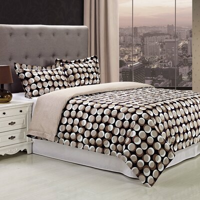 Monroe 3 Piece Reversible Duvet Cover Set Size: King/California King
