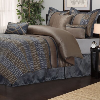 Westerly 7 Piece Reversible Comforter Set Size: King
