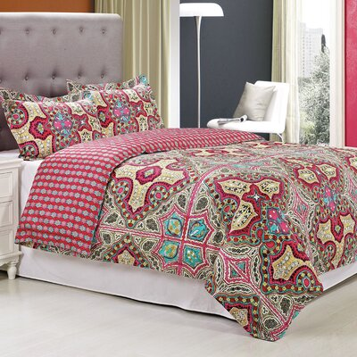 Wildberry 3 Piece Reversible Duvet Cover Set Size: King/California King