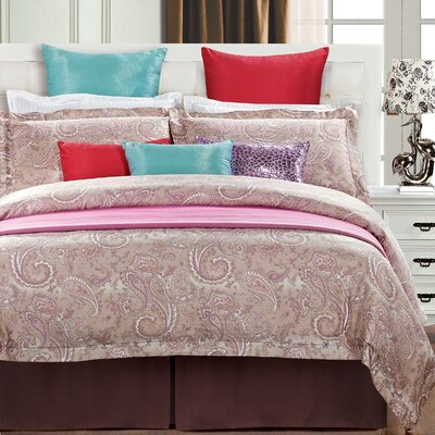 Wallace 3 Piece Reversible Duvet Cover Set Size: Full/Queen