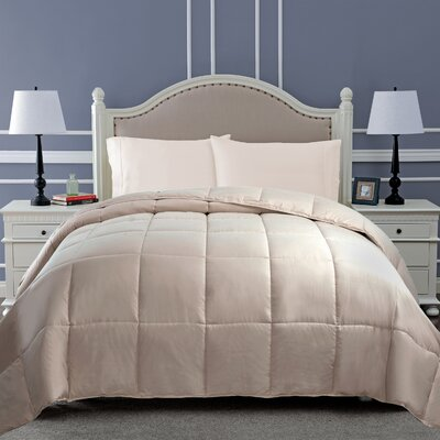 All Season Microfiber Down Alternative Comforter Color: Ivory, Size: King