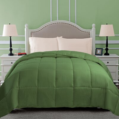 All Season Microfiber Down Alternative Comforter Color: Terrace Green, Size: Twin
