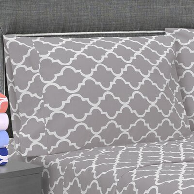 Amalia Pillowcase Size: King, Color: Gray