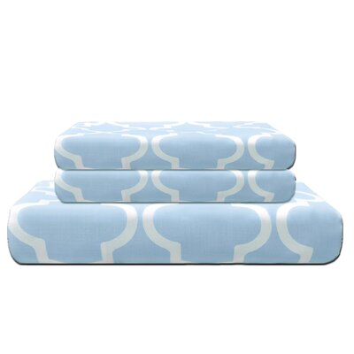 Lola Reversible Duvet Cover Set Color: Light Blue, Size: King/California King