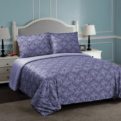 Burkes Reversible Duvet Cover Set Size: Twin/Twin XL, Color: Blue