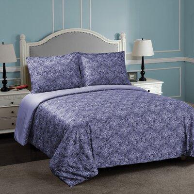 Burkes Reversible Duvet Cover Set Size: Twin/Twin XL, Color: Blue