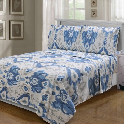 Kanarick 300 Thread Count 100% Cotton Sheet Set Size: Queen