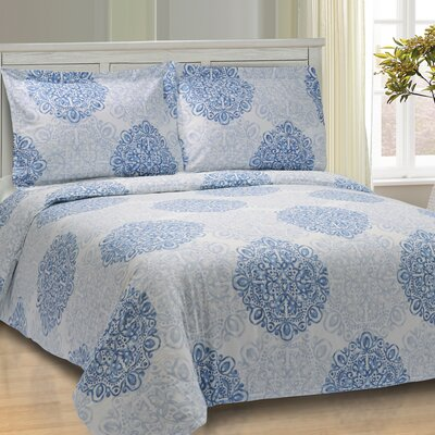 Benito Damask Duvet Cover Set Size: King/California King