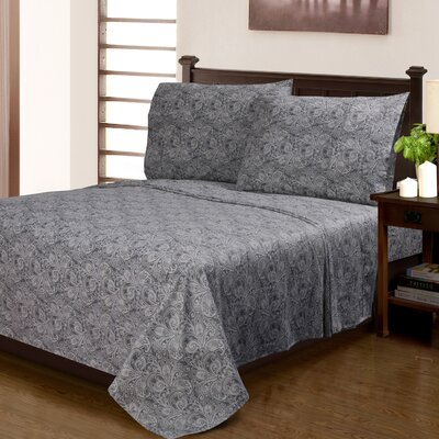 Larksville 300 Thread Count 100% Cotton Sheet Set Size: Full, Color: Gray