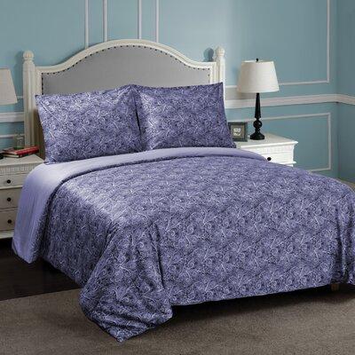 Larksville Reversible Duvet Cover Set Size: Twin/Twin XL, Color: Blue