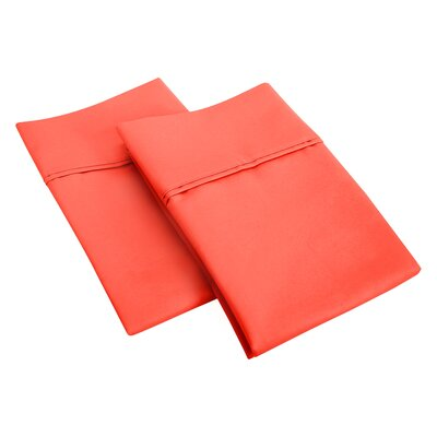 Cotton Rich 1200 Thread Count Pillow Case Size: King, Color: Coral