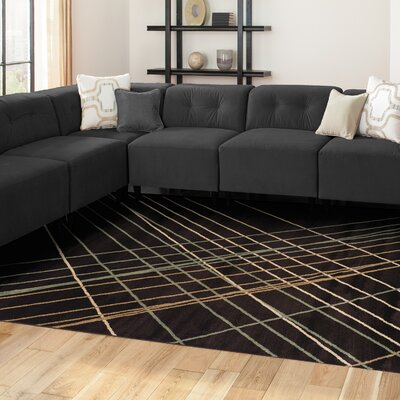 Broadway Brown Area Rug Rug Size: 710 x 910