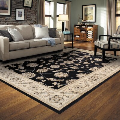 Cambridge Black Area Rug Rug Size: 4 x 6