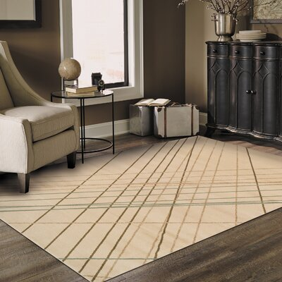 Broadway Ivory Area Rug Rug Size: 5 x 8