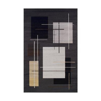 Chamber Black/Beige Area Rug Rug Size: 5 x 8