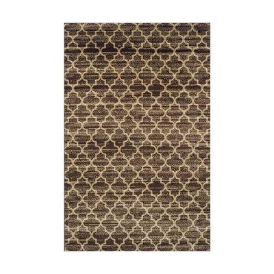 Trellis Brown/Beige Area Rug Rug Size: 4 x 6