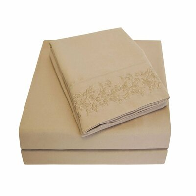 Garrick Microfiber Duvet Sheet Set Size: California King, Color: Taupe
