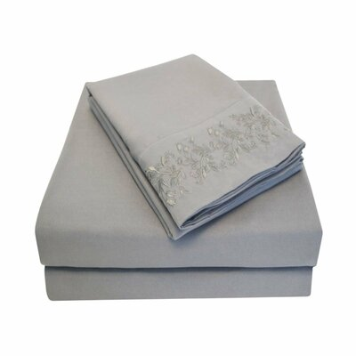 Garrick Sheet Set Color: Charcoal