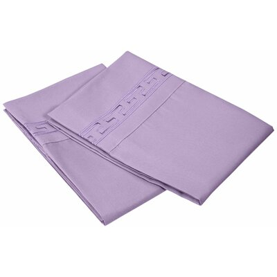Garrick 3000 Series Solid Regal Embroidery Pillowcase Size: Standard, Color: Lilac