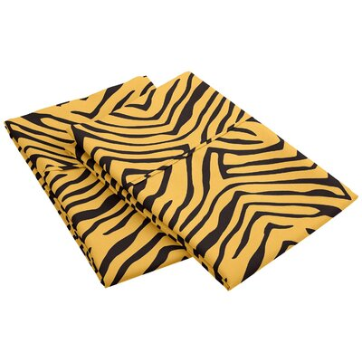 Impressions Wrinkle Resistant Animal Print Pillowcase Color: Leopard, Size: King