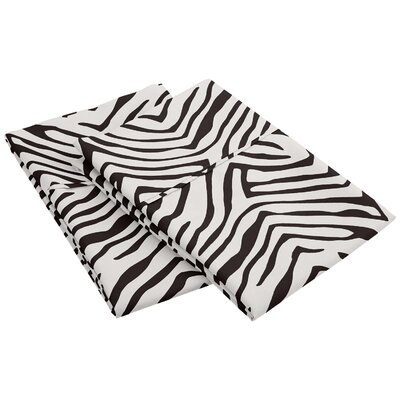 Impressions Wrinkle Resistant Animal Print Pillowcase Size: King, Color: Black