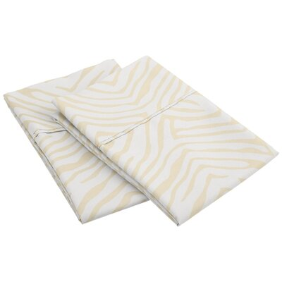 Impressions Wrinkle Resistant Animal Print Pillowcase Size: King, Color: White