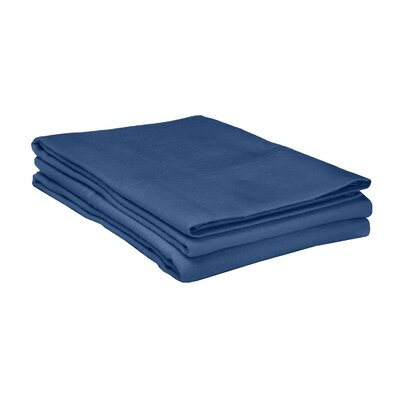 Flannel Cotton Pillow Case Size: King, Color: Navy