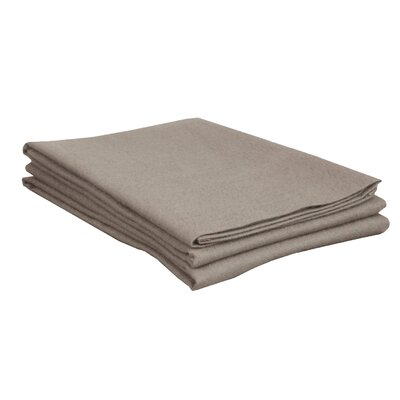 Flannel Cotton Pillow Case Size: Standard, Color: Gray
