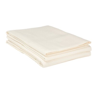 Flannel Cotton Pillow Case Color: Ivory, Size: Standard