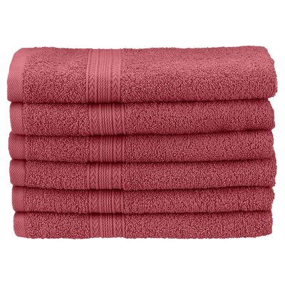 Ankara Hand Towel Set Color: Rosewood