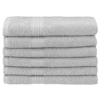 Ankara 6 Piece Hand Towel Set Color: Silver
