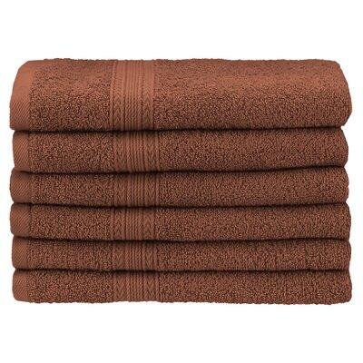 Ankara 6 Piece Hand Towel Set Color: Brown