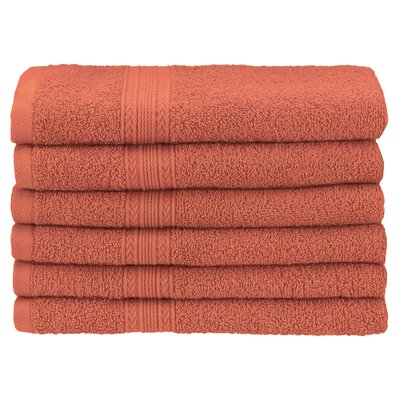 Ankara 6 Piece Hand Towel Set Color: Coral